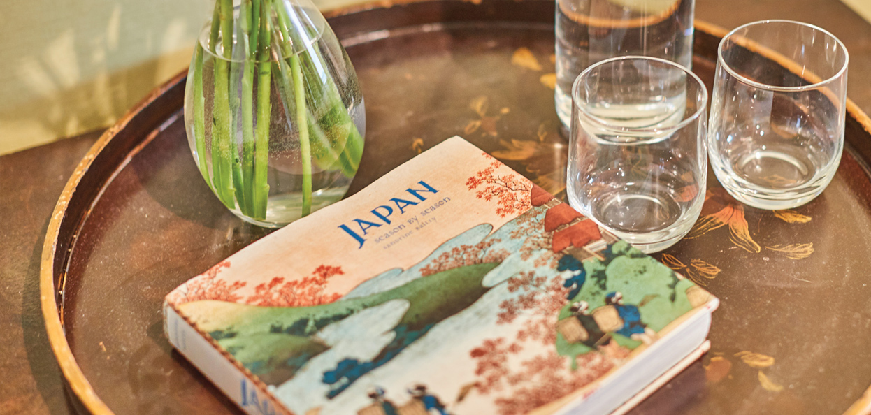 Japanese Inspired decor at Rook Lane House Bed and Breakfast in Frome