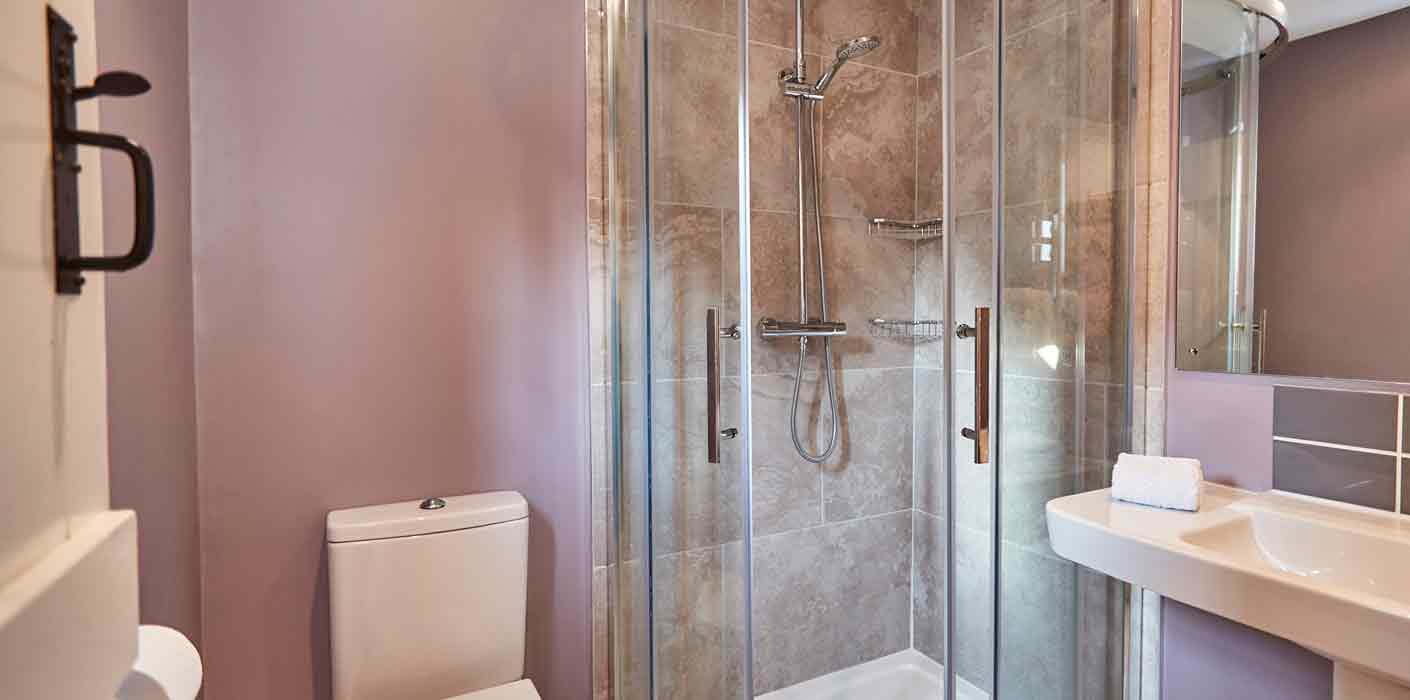 Cleansed Shower and Bathroom in the beautiful Rook Lane House